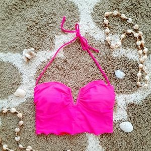 PINK SWIM CROP TOP